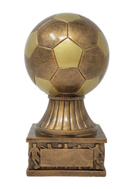 "Soccer Ball Action Pedestal Trophy ⚽ Gold Fútbol Award - 7.5"""