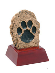 "Paw Print Mascot Sculptured Trophy - 4"" Tall"