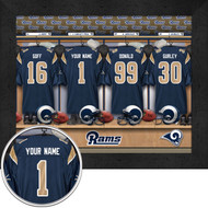 Los Angeles Rams Locker Room Print - Personalized
