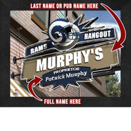 Los Angeles Rams Hangout Print - Personalized
