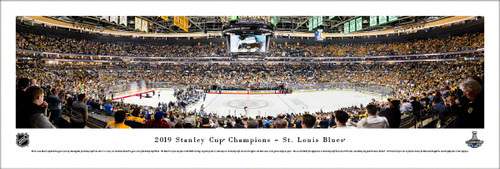 2019 Stanley Cup Championship Panorama Print - Unframed