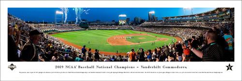 2019 College World Series Panoramic Print - Unframed