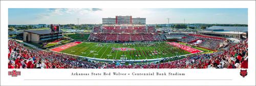 Arkansas State University Panorama Print #2 (50 Yard) - Unframed