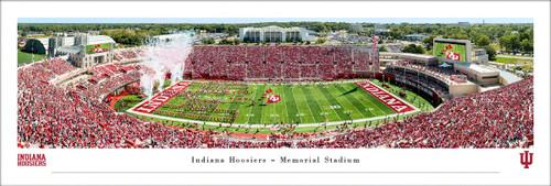 Indiana University Panorama Print #5 (50 Yard) - Unframed