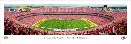 Kansas City Chiefs Panoramic Print #6 (50 Yard) - Unframed