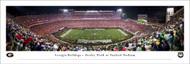 University of Georgia Bulldogs Panoramic Print #6 (50 Yard) - Unframed