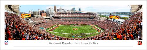 Cincinnati Bengals Panorama Print #4 (50 Yard) - Unframed