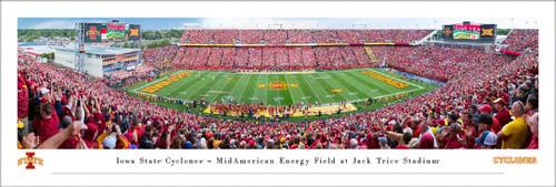 Iowa State University Panorama Print #6 (50 Yard) - Unframed
