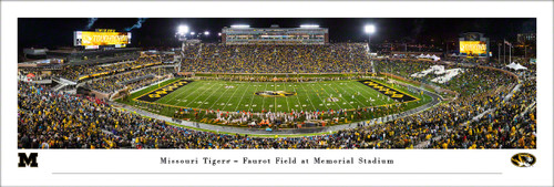 University of Missouri Panorama Print #8 (50 Yard) - Unframed