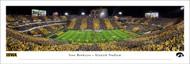 University of Iowa Panoramic Print #7 (50 Yard) - Unframed