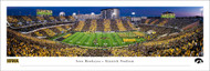 University of Iowa Panoramic Print Print #8 (50 Yard - Sunset) - Unframed