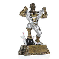 Monster Bowler Trophy | Bowling Beast Award - 6.5""