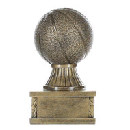 Basketball Action Pedestal Trophy | Engraved Gold Basketball Award - 6 Inch Tall