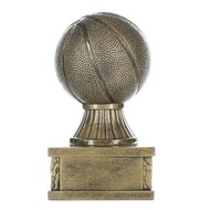 Basketball Action Pedestal Trophy | Engraved Gold Basketball Award - 6 Inch Tall