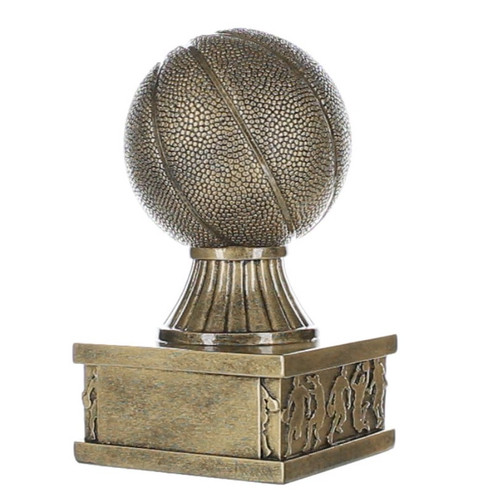 "Basketball Action Pedestal Trophy | Gold Basketball Award - 6"""