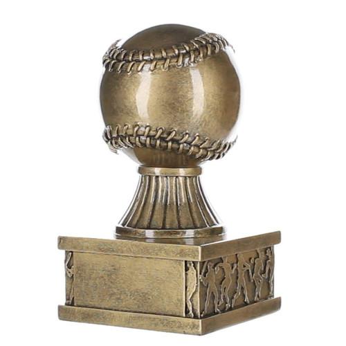 "Baseball Action Pedestal Trophy | Gold Baseball Award - 6"""