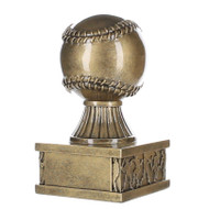 Baseball Action Pedestal Trophy | Gold Baseball Award - 6""