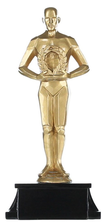 Achievement Trophy, Gold Male | Oscar Style Statue Award - 8""