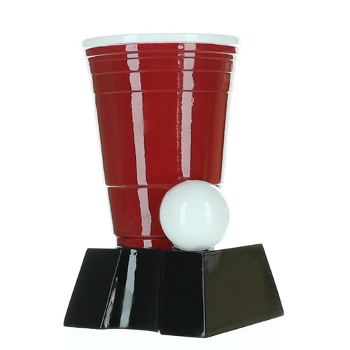 Beer Pong Trophy, Red | College Tailgate Beirut Award - 6.5""