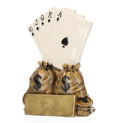 "Poker Champion Trophy | Texas Hold 'em Award - 6"""