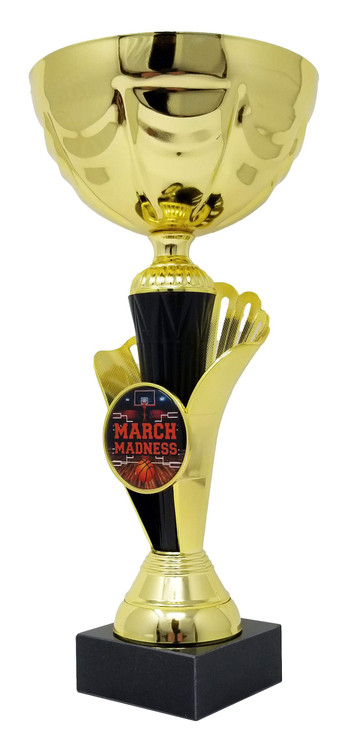 Emblems-Gifts Gold Moment Cup Runner Up Award Plastic Trophy ENGRAVED FREE