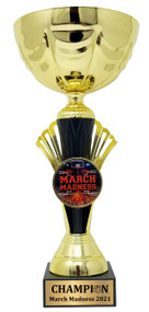 Basketball March Madness Cup Trophy, Gold | March Madness Gold Metal Cup Award - 12 Inch Tall