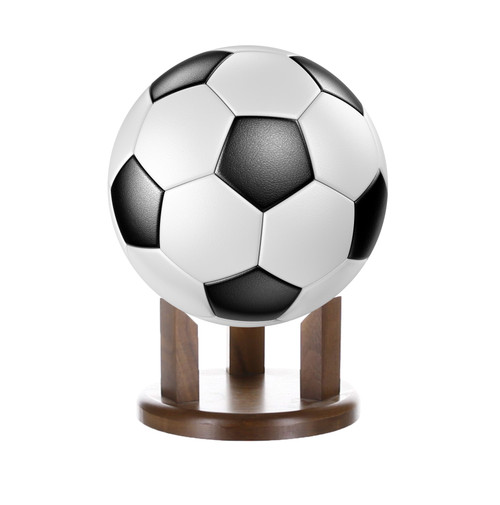 Soccer Ball Stand / Holder - Solid Walnut - 4""