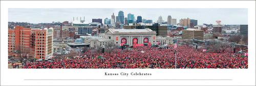 Super Bowl LIV Panoramic Print (Kansas City Celebrates) - Unframed