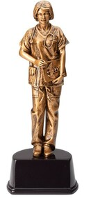 Nurse Gallery Sculpture Trophy - American Hero Award - 10 Inch Tall