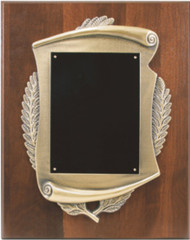 Plaque - Solid Walnut with Scroll Emblem - 3 sizes