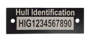 "HIN Plate / Boat Hull Identification - 1"" x 3"""