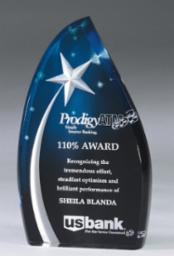 """Star Field Acrylic Trophy 