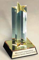 Star Tower Acrylic Trophy | Single Star Corporate Award - 7 and 9 Inch Tall