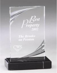 Diamond Carved Acrylic Trophy | Nouveau Corporate Award - 2 sizes