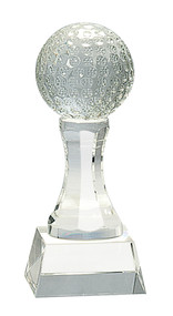 Golf Ball Crystal Trophy - 2 sizes