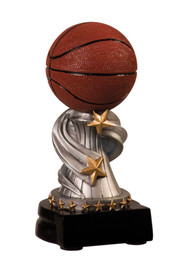 Basketball Encore Silver Pedestal Trophy - Clearance
