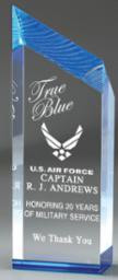 Chisel Carved Acrylic Award - Blue
