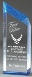 Chisel Carved Acrylic Award - Blue