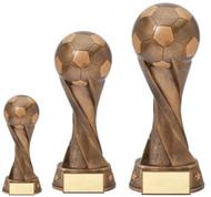 Soccer Spiral Bronze Sculpture Trophy | Fútbol Award - 3 sizes