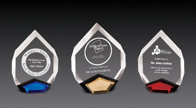 """Marquis Acrylic Award   Faceted Marquis Corporate Award - 8"""" & 9"""""""