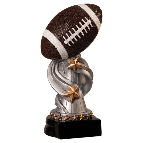 Football Encore Silver Pedestal Trophy   Engraved Football Award - 7 & 8.5 Inch Sizes- Clearance