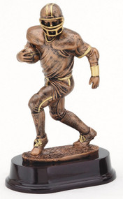 Football Running Back Trophy | Gridiron Receiver Award - Bronze or Silver | 9 Inch Tall