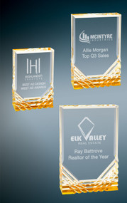 Jewel Mirage Acrylic Award - Gold