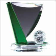 Golf Crystal Ball at Pin Trophy - 3 sizes