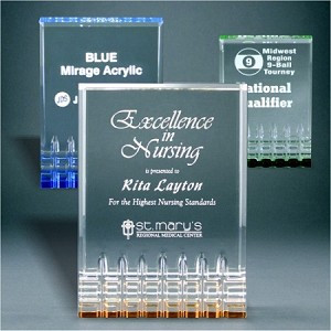 Mirage Acrylic Award | Acrylic Corporate Trophy | 5, 6 and 7 Inch Tall