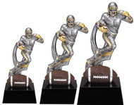 Football Motion X Trophy | Action Gridiron Award | 7, 8 and 9 Inch Tall