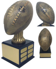 Fantasy Football League Champion Perpetual Trophy | Engraved FFL Perpetual Award - 15.5 Inch Tall