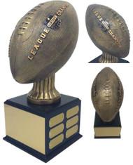 Fantasy Football League Champion Perpetual Trophy | Engraved FFL Perpetual Award - 15.5 Inch Tall