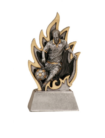 Soccer Ignite Resin Trophy - Male | Fútbol Award | Clearance