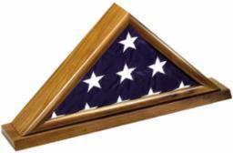 Memorial Flag Display Case - Walnut Finish